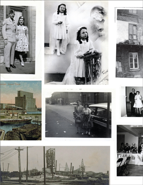 collage of the merciers and griffintown